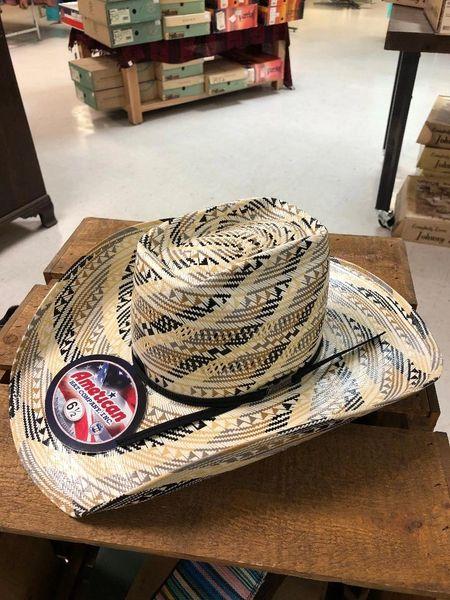 Tan and Multi Color American Hat