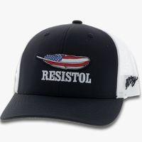 Black Resistol Cap With Patriotic Feather Logo