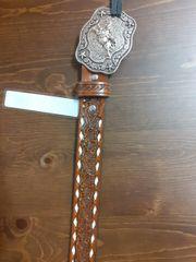 MF Youth Tan Belt W/ White Stitch