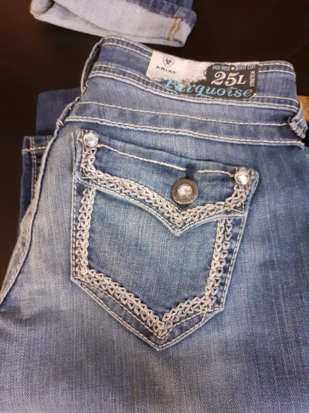 Womens Ariat Turquoise Essential Jeans