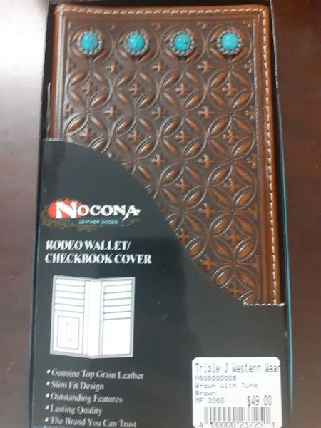 Nocona Turquoise Emblem Wallet
