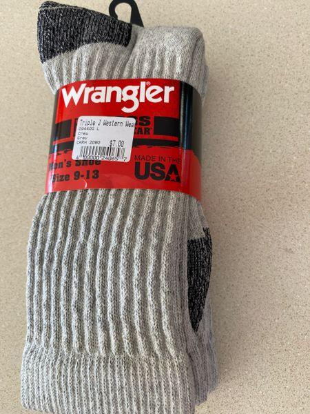 Men's Grey Crew Socks