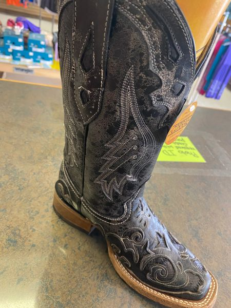 Women's Corral Black Snake Inlay Boots