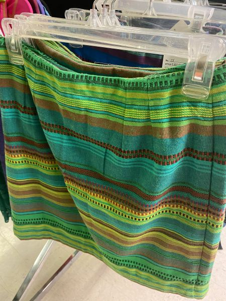 Women's Green Tribal Skirt