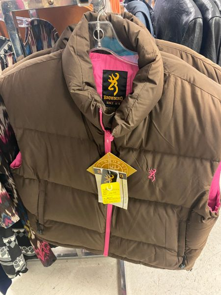 Women's Brown and Pink Browning Vest