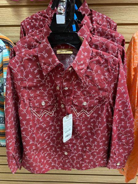 Girl's Wrangler L/S Shirt