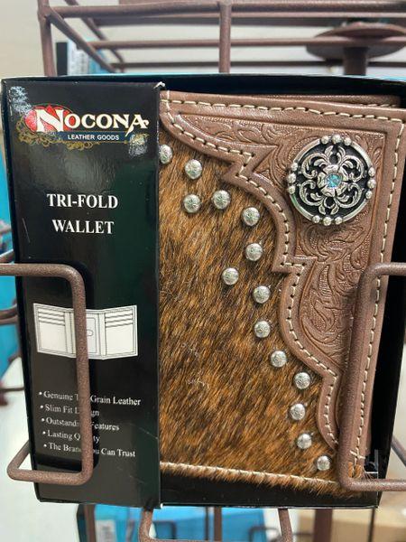 Nocona Tri Fold Calf Hair Wallet