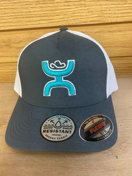 Grey/White Flex Fit Hooey Hat