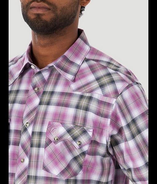 Short Sleeve Retro snap Plum Shirt