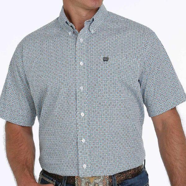 Men's Cinch short sleeve geo print shirt