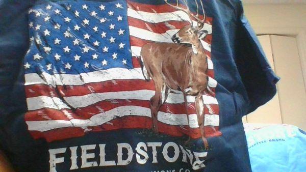 Flag & Deer navy blue t-shirt
