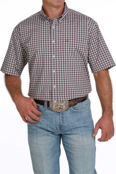 Men's short sleeve arenaflex plaid shirt