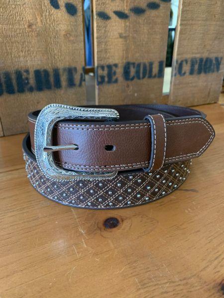Mens Silver Beaded Belt