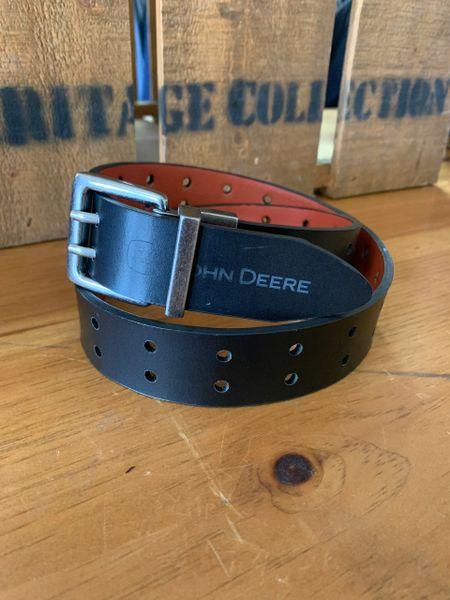 Mens Blk/Brown John Leather Belt