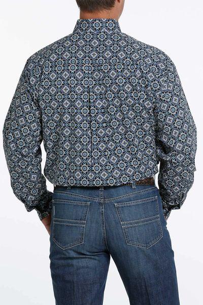 Men's Cinch black pattern shirt