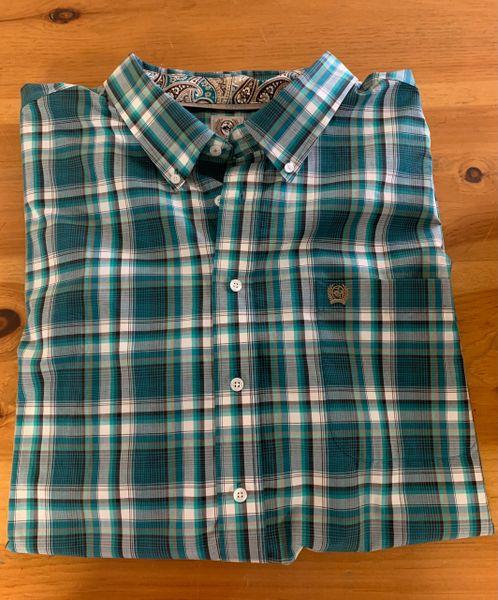 Men's Cinch long sleeve button down plaid shirt