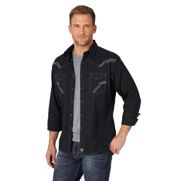 Men's Rock 47 long sleeve pearl snap shirt