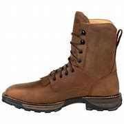 Mens Lace Up Sq Toe Work Boot
