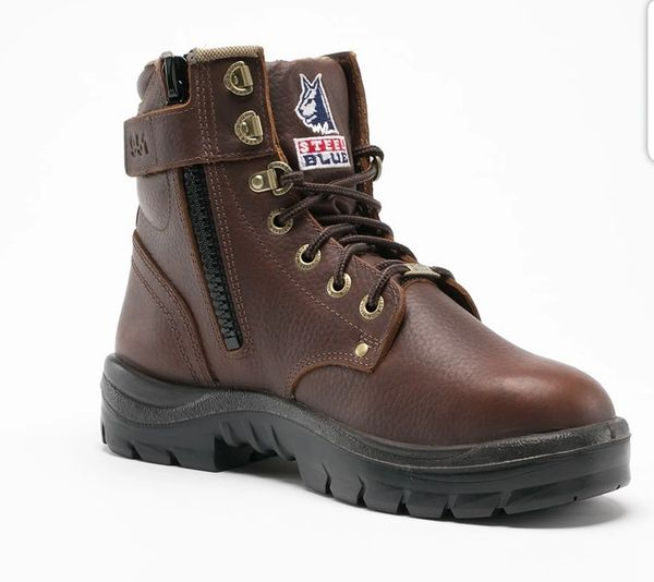 Men's argyle zip lace up six inch work boot in wide