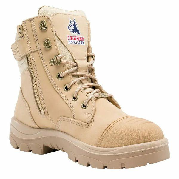 Men's Steel Blue Southern Cross Zip Scuff Steel Toe Boot