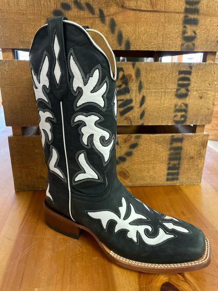 Women's Johnny Ringo White Inlay Square Toe Western Boot