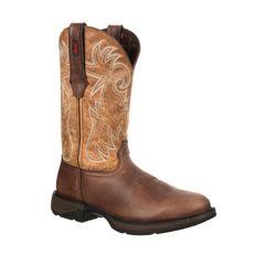 "Durango Men's 11"" Pull-On Steel Toe Brown/Tan Boot"