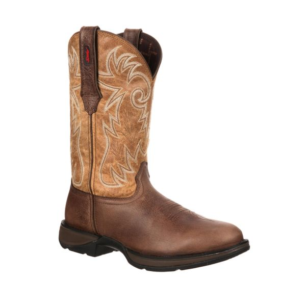 "Durango Men's 11"" Pull-On Steel Toe Brown/Tan Boot"