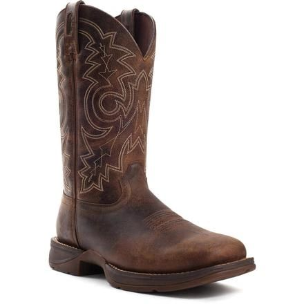 "Durango Men's 11"" Pull-On Brown Steel Toe Boot"