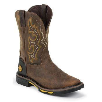 Justin Men's Rustic Barnwood Work Boot