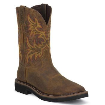 Justin Men's Stampede Square Toe Work Boot