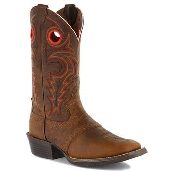 Justin Men's Whiskey Buffalo (Silver) Boot