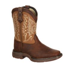 """Durango Youth 8"""" Let Love Fly Distressed Brown Tan"""