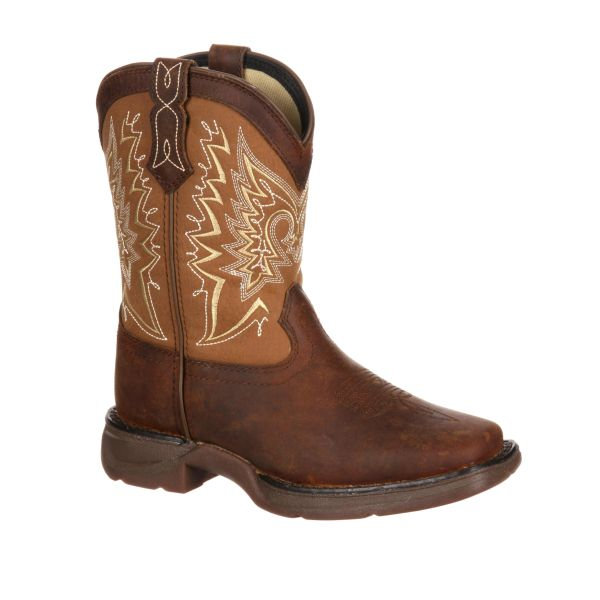 "Durango Youth 8"" Let Love Fly Distressed Brown Tan"