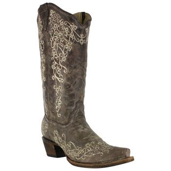 Corral Women's Brown Crater Bone Emroidery