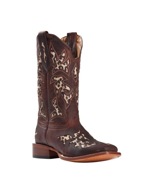 Johnny Ringo Women's Western Square Toe Boots Rust Leopard
