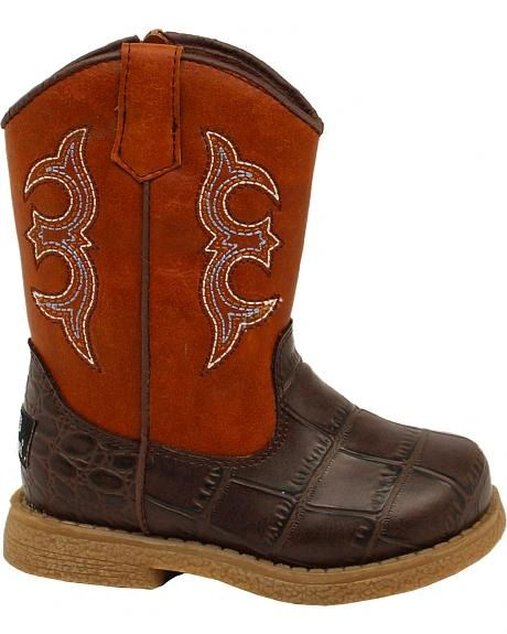 """Double Barrel Toddler """"Lil' Bronc"""" Western Boots"""
