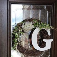Spring Wreath with Initial