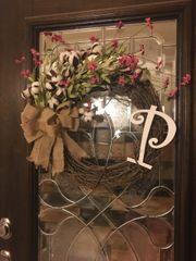 Spring Cotton Wreath