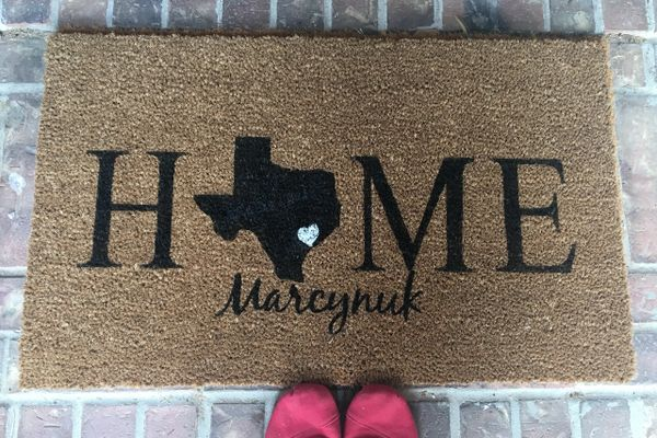 Custom Doormat HOME