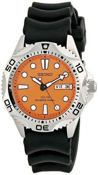 Seiko Men's SNE109 Stainless Steel Solar Dive Watch