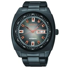 Seiko Men's Automatic Black Ion Ginish Watch 44mm SNKM99
