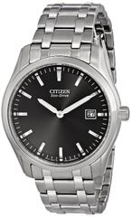 Citizen Eco-Drive Mens Stainless Steel Date Watch Model AU1040-59E