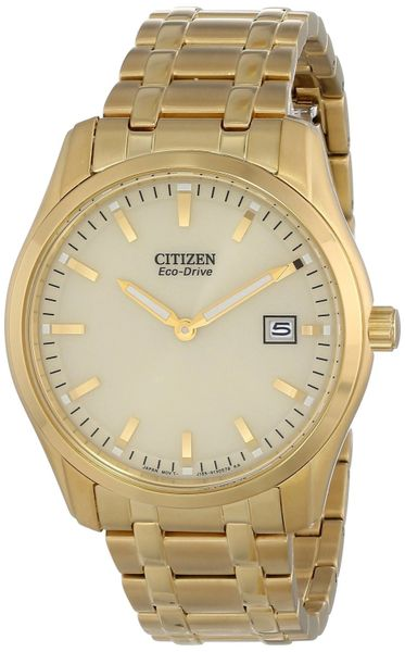 Citizen Eco-Drive Gold Stainless Steel Bracelet Analog Watch Model AU1042-53P