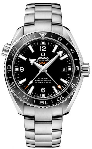 Omega Seamaster Planet Ocean GMT Black Dial Steel Mens Watch Model 23230442201001