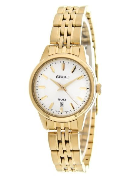 Seiko Women's Quartz Gold-Tone Classic Watch SUR892