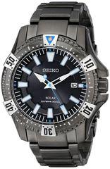 Seiko Solar Mens Grey Stainless Steel Quartz Watch SNE281