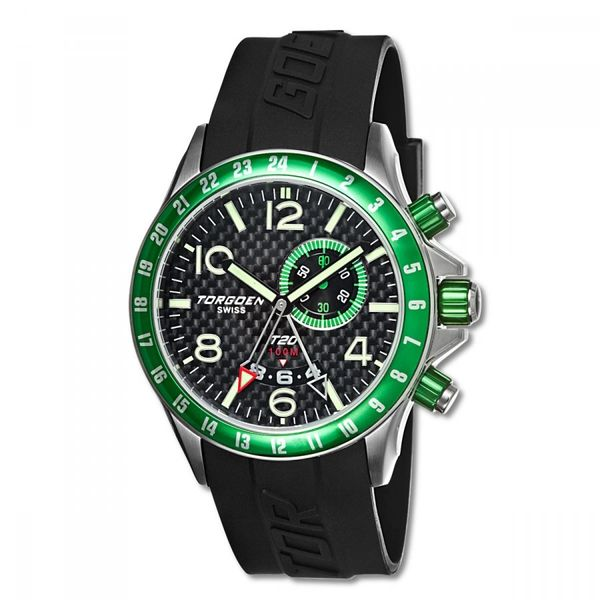 Torgoen T20302 GMT/Dual time, Alarm, Big date window