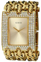 GUESS Women's U0085L1 Rocker Glitz Multi-Chain Gold-Tone Bracelet Watch