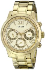 GUESS Women's U0330L1 Gold-Tone Multi-Function Watch