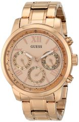 GUESS Women's U0330L2 Rose Gold-Tone Multi-Function Watch